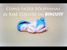 DIY Como fazer roupinha bebe coelho lembrancinha maternidade - Viviana B...