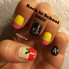 This year's Back to School nails!