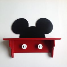 Mickey Mouse wall Deco shelf. Handmade by Under Ten CR.