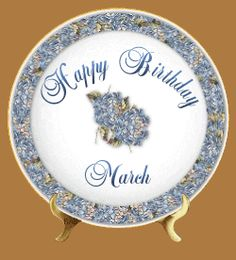 Happy Birthday March Days And Months, Months In A Year, Birthday Pictures, Birthday Images, March Pisces, Birthstones By Month, March Month, My Prince Charming, Daffodils