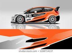 Sport sedan and hatchback Racing livery design. for wrap, decal, and sticker. Golf Mk2, Carros Sedan, Pet Transport, Boat Radio, Car Decals, Sticker, Sports Sedan, Steve Mcqueen, En Stock