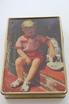 Vintage Edward Sharp & Sons Maidstone Kent Tin Child Dog on Etsy, $28.97 CAD