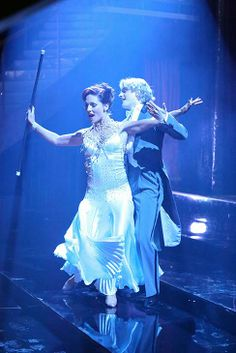 Charlie White and Sharna Burgess appear in a still from 'Dancing With The Stars' season 18 on May 12, 2014.
