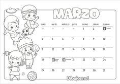 11 Ideas De Infantiles Calendario Infantil Infantiles Imprimir Sobres