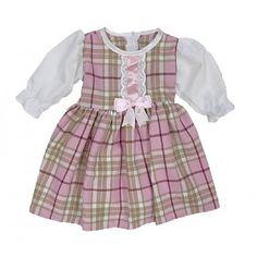 Bee Bo: Tartan British Made Dress, mnd Dress Making, Pink Girl, Tartan, Bee, Girls Dresses, British, Rompers, Fashion, Dresses Of Girls