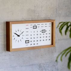 ロウィント カレンダークロック 万年カレンダー ナチュラルインテリア 生活雑貨の通信販売 | ゼネラルストア オルネ