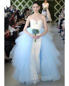 """See the """"Oscar de la Renta"""" in our Blue Wedding Dresses, Spring 2013 Bridal Fashion Week gallery"""