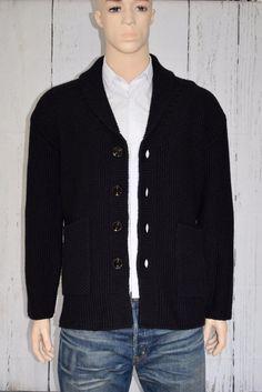 Fabulous Pretty Green Black Label Cardigan by Liam Gallagher Chunky Medium BNWT #PrettyGreen #ButtonFrontCardigans