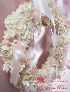 Shabby Chic Christmas Wreaths | Cynthialoowho♥♥♥: Shabby Chic Christmas Wreath