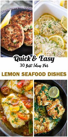 Work efficiently in reducing and even removing fishy smells of fresh seafood, lemon is without dispute a preferred ingredient in seafood dishes. Not just that, it surely doubles their tastes and flavors when cooked right and combined cleverly with ot Baked Cod Recipes, Lemon Recipes, Fish Recipes, Seafood Recipes, Salad Recipes, Healthy Recipes, Drink Recipes, Salmon Wellington Recipe, Fresh Seafood