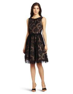 Jessica Howard Women's Sleeveless Shirred Neck Dress1 Piece sleeveless shirred neck dress with full skirt & belt $97.50