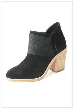 For yourself (new everyday booties are a must!): Loeffler Randall Eva Stacked Heel Bootie in Black Suede