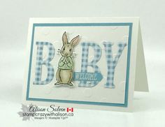A sweet baby card using the Fable Friends Stamp Set from Stampin' Up! Shower Bebe, New Baby Cards, Stamping Up Cards, Card Tags, Card Kit, Cards For Friends, Greeting Cards Handmade, Baby Shower Cards Handmade, Baby Crafts