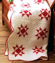 Image result for red and white star quilt pattern