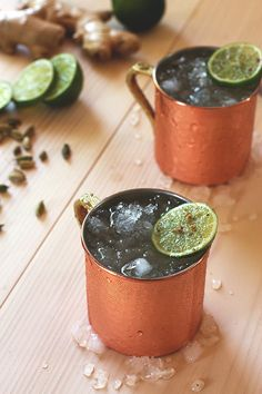 Cardamom Moscow Mule | HonestlyYUM (Ha! Was just drinking a moscow mule the other day with gin instead of vodka... talking about adding my cardamom simple syrup.)