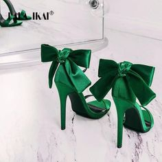 LALA IKAI Women's Sandals High Heels Summer Shoes Fashion Ladies Ankle Strap Butterfly-knot Sandalias Mujer 2018 Outfit Accessories From Touchy Style High Heels Outfit, Dress And Heels, Shoes Heels, Stilettos, Stiletto Heels, Back Strap Heels, Ankle Straps, Frauen In High Heels, Diy Vetement