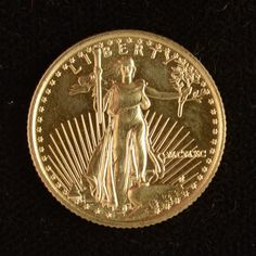 gold eagle proof 1/10 oz BEAUTIFUL  gold coin by DrewsCollectibles, $164.00