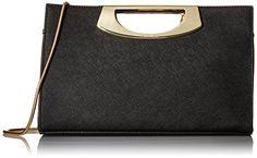 Calvin Klein Saffiano Clutch, Black/Gold <3 Reviews @ http://www.amazon.com/gp/product/B018TQE5A2/?tag=handbagscto-20&PQ=190816214942