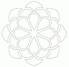 Hand Embroidery Patterns to Copy - Bing Images Stained Glass Patterns, Mosaic Patterns, Zentangle Patterns, Quilt Patterns, Applique Patterns, Hand Embroidery Tutorial, Embroidery Flowers Pattern, Flower Patterns, Flower Applique