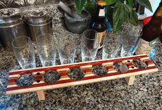 Handmade Wood Mini Brew Beer Sampler and Coaster by tauntongreen, $129.00