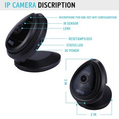 Mini IP Camera, UOKOO Home WiFi Wireless Security Surveillance Camera System with Night Vision/Two Way Audio (nightblack) Wireless Security Cameras, Security Surveillance, Hidden Camera, Ip Camera, Alarm System, Night Vision, Wifi, Audio, Eye
