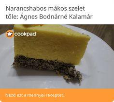 Narancshabos mákos szelet