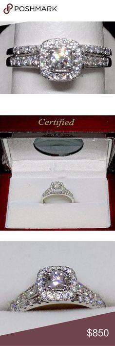0.51 carat 14k white gold diamond ring set 0.51 carat 14k white gold diamond ring set! Certified and retail over $2500!! Jewelry Rings