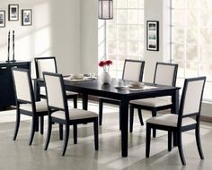 7pc Formal Dining Table & Chairs Set Distressed Black Finish by Coaster Home Furnishings, http://www.amazon.com/dp/B00BGBQA2O/ref=cm_sw_r_pi_dp_I95Mrb1Q7986Q