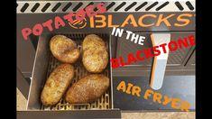 Potatoes in the Blackstone Air Fryer  Black stone Griddle Potatoes in the Blackstone Air Fryer – YouTube Griddle Recipes, Air Fryer Recipes, Loaded Potato Skins, Air Fryer Baked Potato, Blackstone Griddle, Griddles, Grilling, Potatoes, Favorite Recipes