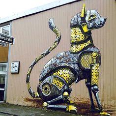 Streetart: Pixel Pancho Murals in Düsseldorf, Los Angeles, Sarasota, Miami and Baltimore | InspireFirst