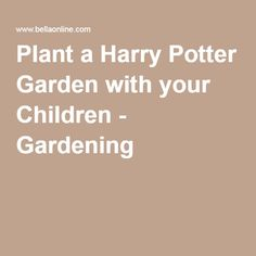 This article gives a plant list for a Harry Potter garden. - Plant a Harry Potter Garden with your Children - Gardening at BellaOnline Organic Gardening, Harry Potter, Children, Sorting Hat, Plants, Store, Young Children, Boys, Kids
