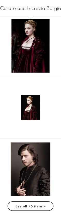 """""""Cesare and Lucrezia Borgia"""" by annette-heathen ❤ liked on Polyvore featuring people, borgias, cesare borgia, the borgias, home, home decor, borgia, photo, pictures and accessories"""