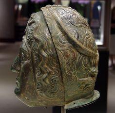 Calvary parade helmet, Roman, bronze, circa 2nd Century A.D.,