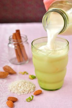 Rice Dream- Make your own Authentic Horchata! A wonderfully milky Mexican beverage made with rice and almonds, lightly sweetened with sugar and enhanced with cinnamon and vanilla. (click on photo for recipe)
