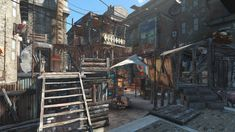 I turned Hangman's Alley into a shantytown. Hope you like it #Fallout4 #gaming #Fallout #Bethesda #games #PS4share #PS4 #FO4