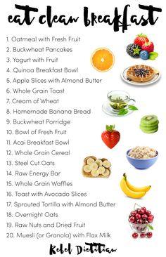 Eat Clean Breakfast Inspiration | Rebel Dietitian, Dana McDonald, RD, CNSC