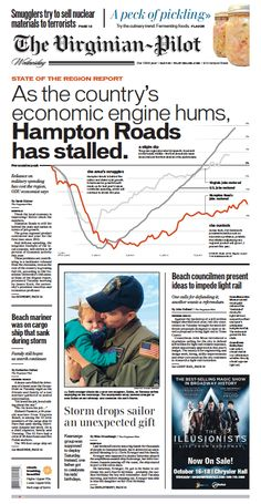 The Virginian-Pilot's front page for Wednesday, Oct. 7, 2015.