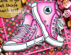 woodware sneakers - Google Search Teenager Birthday, 16th Birthday, Birthday Cards, Star Cards, Jeepers Creepers, Embossed Cards, Kids Cards, Poinsettia, Paper Piecing