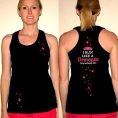 Princess runner tank top - MouseTalesTravel.com  #MTT #rundisney #fitmouse #getfit
