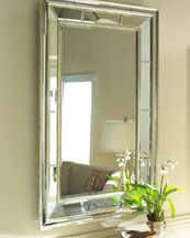 double bevel mirror from Horchow - -love it!!!!