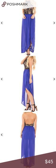 Royal blue chiffon maxi Gorgeous color Dresses Maxi
