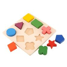 Dessin de bois Stacking Building Block Toy Montessori éducation Brain Training jouer apprentissage enfants(China (Mainland))