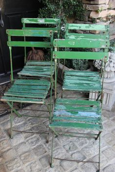 Just Fab - Even if they're green!!! Bistro Chairs are Soooo Hot This Spring...Available at American Home & Garden in Ventura CA!!!
