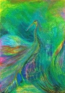 Oil pastel bird