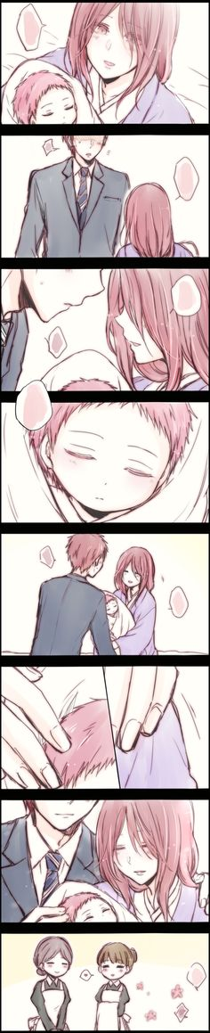 Baby Akashi and his parents ><