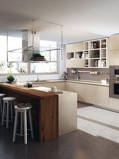 Cucina con isola e ripiano bar per la colazione n.08 | Cucine ...