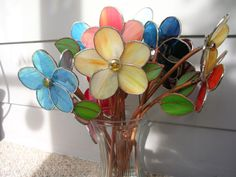 Stained Glass Flower by glassandthings on Etsy, $15.00