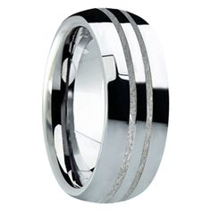 Ring Size 12.5 Security Jewelers Tungsten 8.3mm Beveled Band with Grooved Center Size 12.5