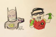 Even Superheros practice good oral hygiene.