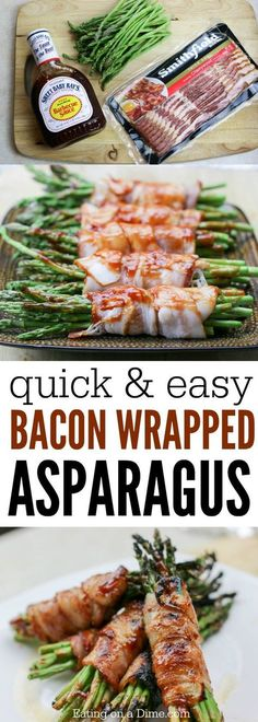 Asparagus wrapped in bacon? Why yes, bacon makes everything better. Try this easy Bacon Wrapped Asparagus Recipe that is packed with flavor! recipes oven bacon wrapped Bacon Wrapped Asparagus Recipe - Ready in minutes! Asparagus Recipes Oven, Sauteed Asparagus Recipe, Oven Roasted Asparagus, Asparagus Bacon, Bacon Recipes, Cooking Recipes, Healthy Recipes, Fresh Asparagus, Bacon Thanksgiving Recipes